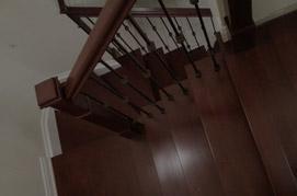 Carpet to hardwood stairway refacing
