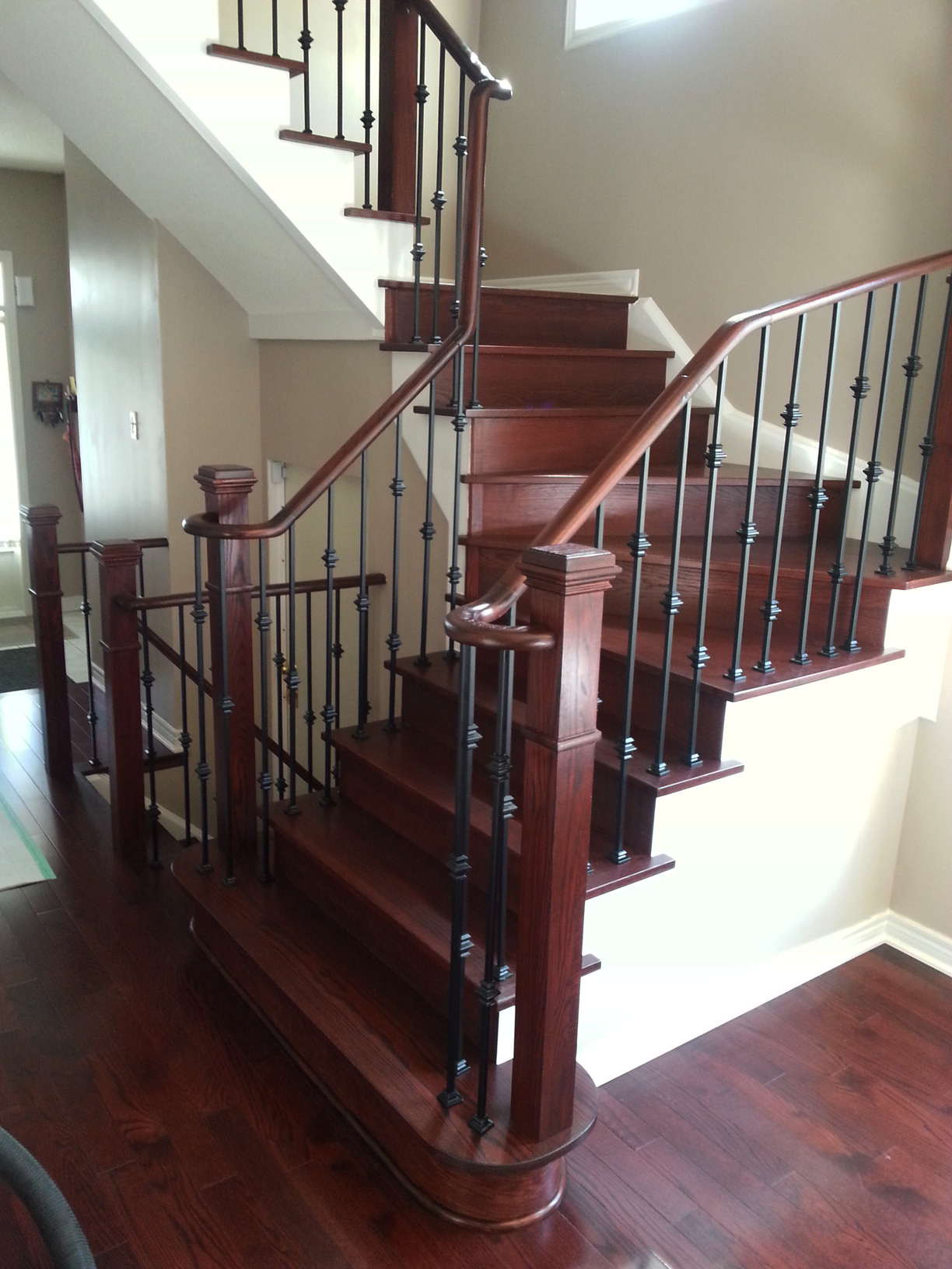 stairs in laminate installation refacing and oakville on flooring mississauga floors about staircase